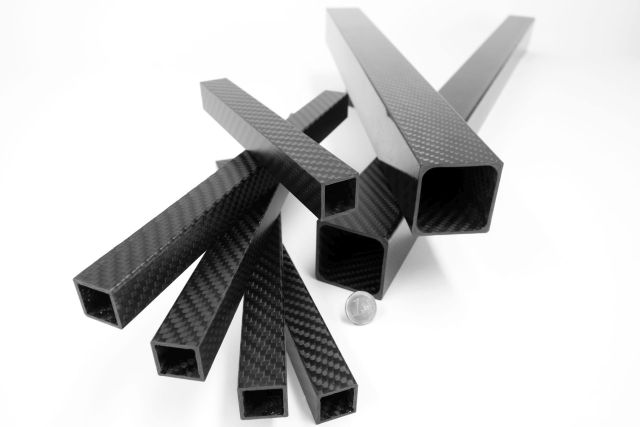 Carbon Composite - Carbon Vierkant Rohre CFK Kohlefaser Abschnitte