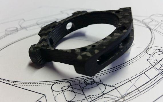Carbon Composite - Carbon Uhrgehäuse mit Zeichnung