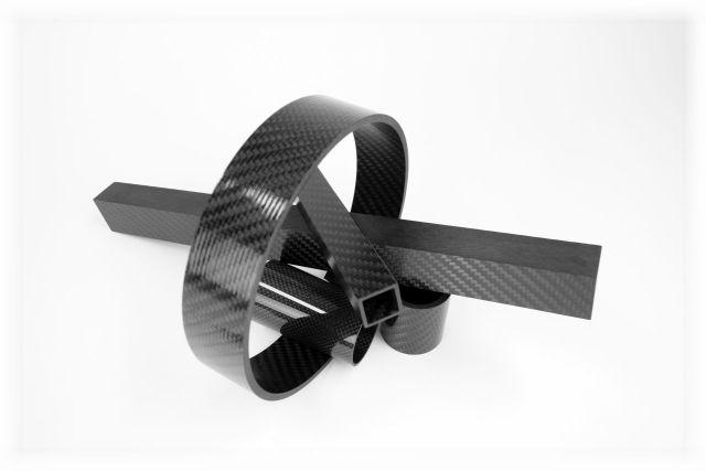 Carbon Composite - Carbon Rohre Rund CFK Vierkantrohre Abschnitte