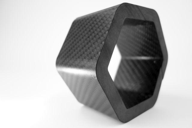 Carbon Composite - Carbon Sechskant Rohr CFK Kohlefaser